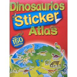 Dinosaurio Atlas 150 Stickers