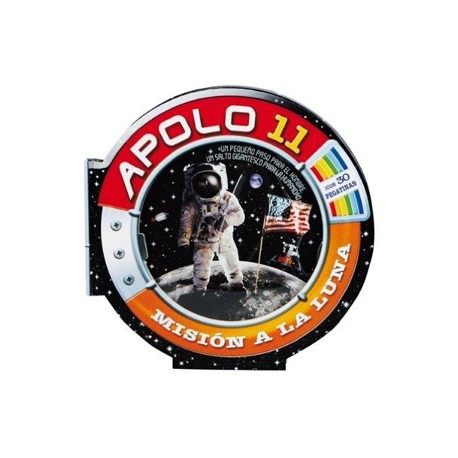 Apolo 11. Misión a la Luna (con 30 pegtinas)