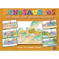 Pinta tu primer cuadro: Dinosaurios Colorea con Brontosaurios