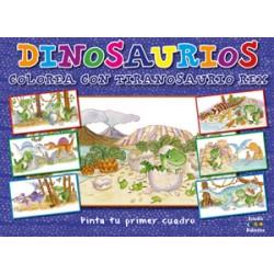 Pinta tu primer cuadro: Dinosaurio Colorea con Tiranosaurio Rex
