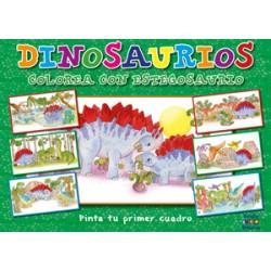 Pinta tu primer cuadro: Dinosaurio Colorea con Estegosaurio